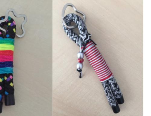 Schlüsselanhänger aus Seil